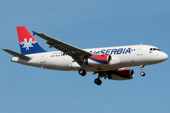 самолет air serbia